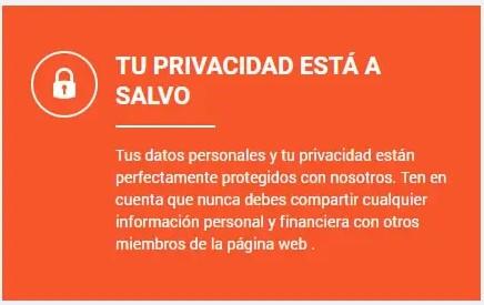 Relaciones Casuales: aviso de privacidad